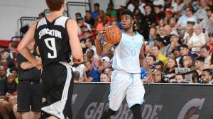 Emmanuel Mudiay looked like a man amongst boys.